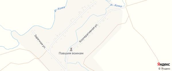 Кооперативная улица на карте деревни Нижнее Кляшево с номерами домов