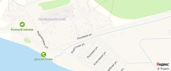 Полевая улица на карте поселка Сосновки с номерами домов