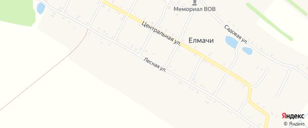 Лесная улица на карте деревни Елмачи с номерами домов