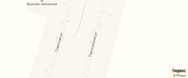 Партизанская улица на карте деревни Старых Чукалы с номерами домов