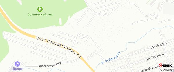 Нагорно-Рябиновская улица на карте Чебоксар с номерами домов