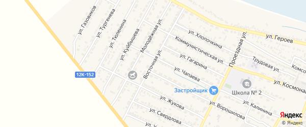 Восточная улица на карте поселка Лимана с номерами домов