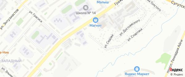 Улица Докучаева на карте Чебоксар с номерами домов