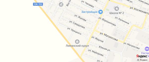 Улица Урицкого на карте поселка Лимана с номерами домов