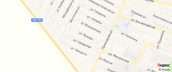 Улица Жукова на карте поселка Лимана с номерами домов
