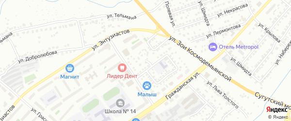 Молодогвардейская улица на карте Чебоксар с номерами домов