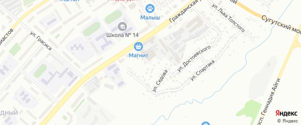 Улица Матросова на карте Чебоксар с номерами домов