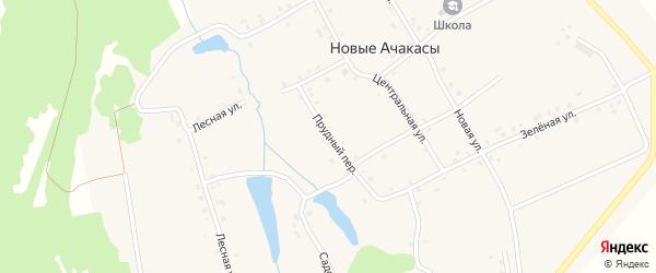 Прудный переулок на карте деревни Новые Ачакасы с номерами домов