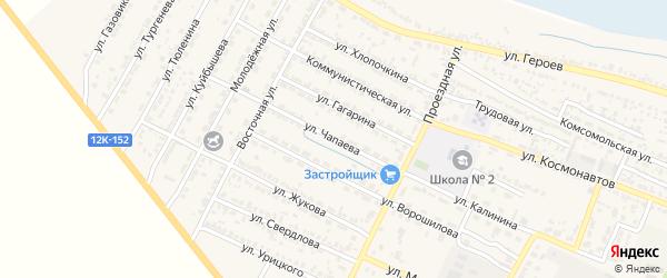 Улица Чапаева на карте поселка Лимана с номерами домов