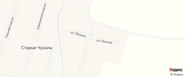 Улица Ленина на карте деревни Старых Чукалы с номерами домов