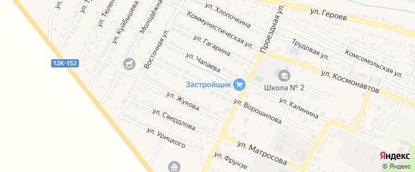 Улица Ворошилова на карте поселка Лимана с номерами домов