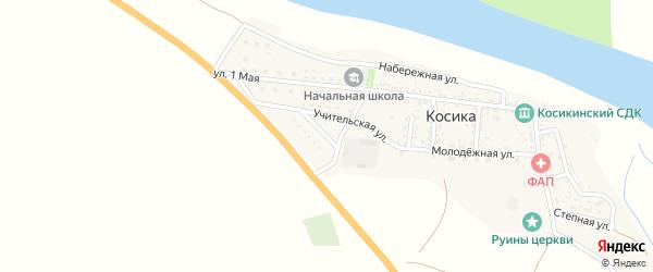 Учительская улица на карте села Косики с номерами домов