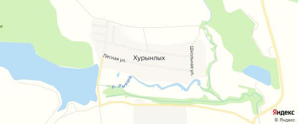Карта деревни Хурынлых в Чувашии с улицами и номерами домов