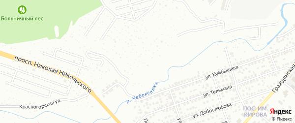 Рябиновская улица на карте Чебоксар с номерами домов
