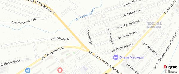 Улица Добролюбова на карте Чебоксар с номерами домов