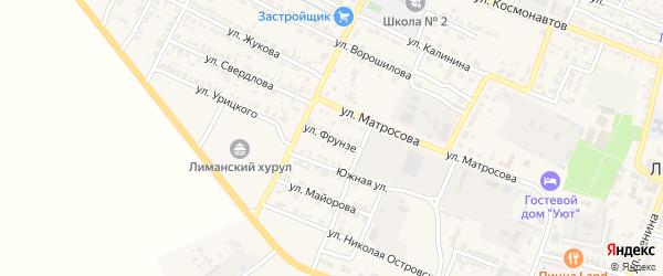 Улица Фрунзе на карте поселка Лимана с номерами домов