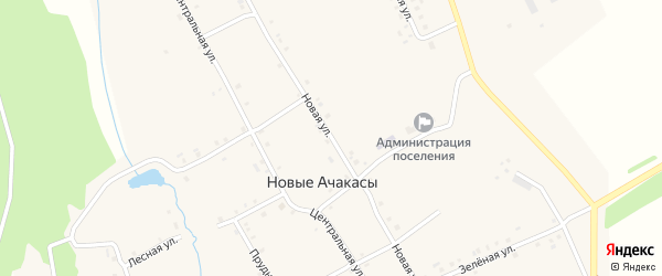 Новая улица на карте деревни Новые Ачакасы с номерами домов