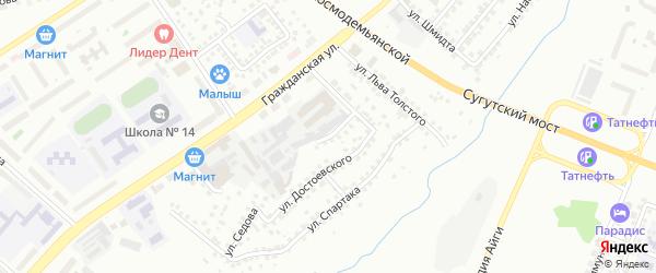 Улица Челюскина на карте Чебоксар с номерами домов
