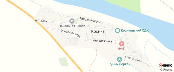Школьный переулок на карте села Косики с номерами домов