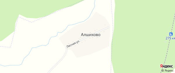 Лесная улица на карте поселка Алшихово с номерами домов