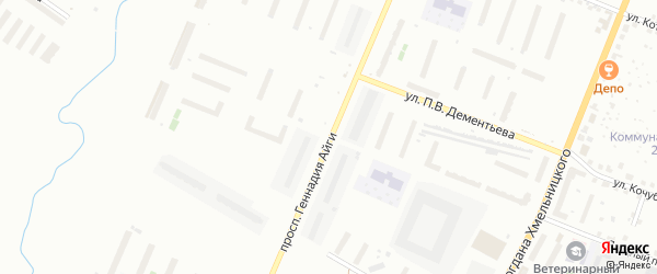 Проспект Геннадия Айги на карте Чебоксар с номерами домов