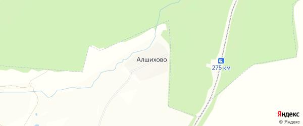 Карта поселка Алшихово в Чувашии с улицами и номерами домов