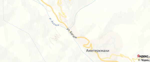 Карта села Аметеркмахи в Дагестане с улицами и номерами домов