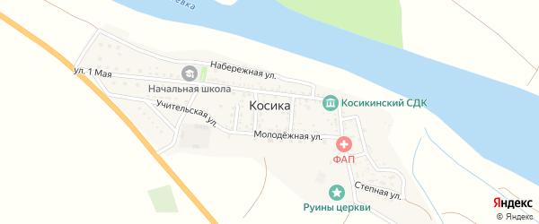 Переулок Мира на карте села Косики с номерами домов