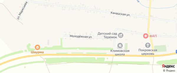 Молодежная улица на карте села Климово с номерами домов