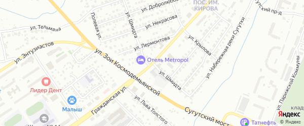 Улица Шмидта на карте Чебоксар с номерами домов