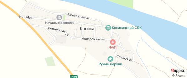 Молодежная улица на карте села Косики с номерами домов