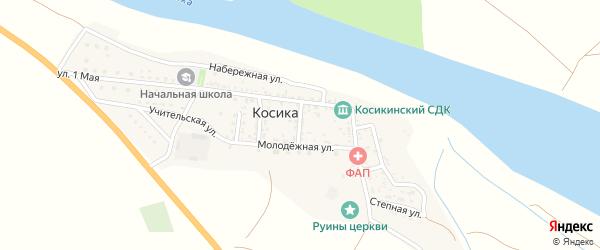 Переулок Шеиных на карте села Косики с номерами домов