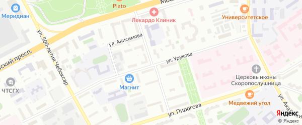 Улица Спиридона Михайлова на карте Чебоксар с номерами домов