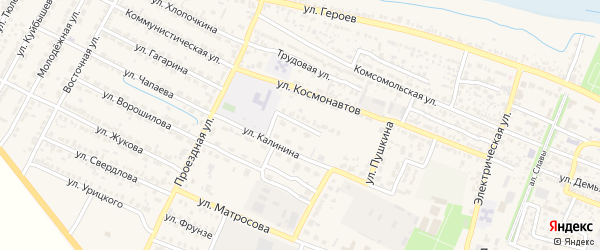 Школьная улица на карте поселка Лимана с номерами домов