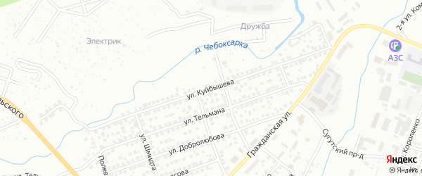 Улица Куйбышева на карте Чебоксар с номерами домов