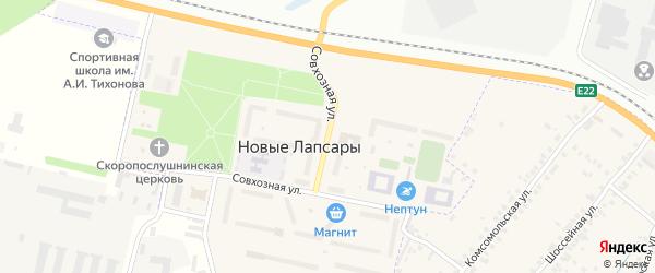 Совхозная улица на карте Чебоксар с номерами домов