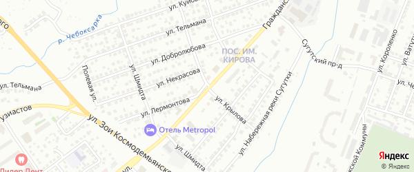 Улица Крылова на карте Чебоксар с номерами домов