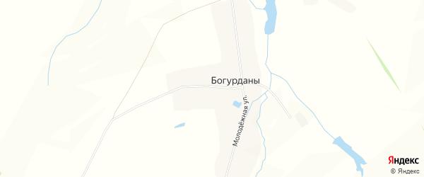 Карта деревни Богурданы в Чувашии с улицами и номерами домов