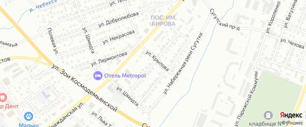 Улица Островского на карте Чебоксар с номерами домов