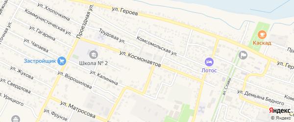 Улица Космонавтов на карте поселка Лимана с номерами домов