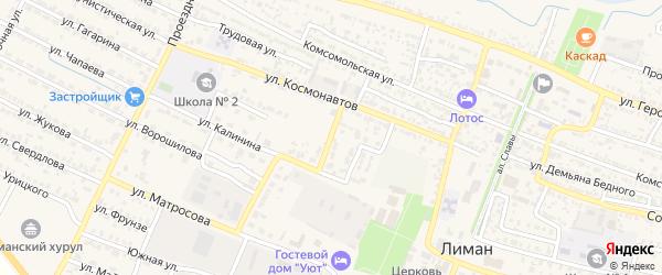 Улица Пушкина на карте поселка Лимана с номерами домов