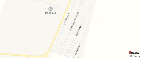 Привокзальная улица на карте поселка Лимана с номерами домов