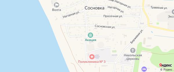 Новая улица на карте поселка Сосновки с номерами домов