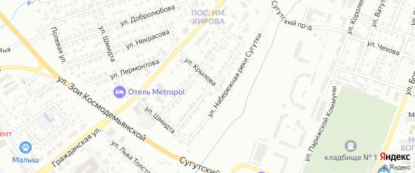 Улица Гончарова на карте Чебоксар с номерами домов