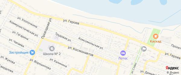 Улица О.Кошевого на карте поселка Лимана с номерами домов