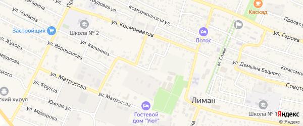 Пионерская улица на карте поселка Лимана с номерами домов