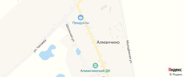 Улица Гагарина на карте села Алманчино с номерами домов