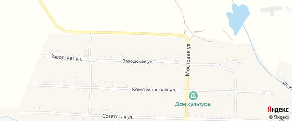 Заводская улица на карте села Климово с номерами домов