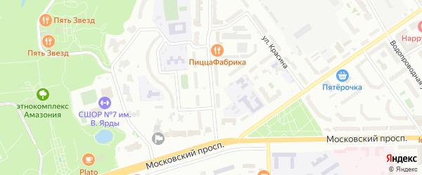 Улица Афанасьева на карте Чебоксар с номерами домов
