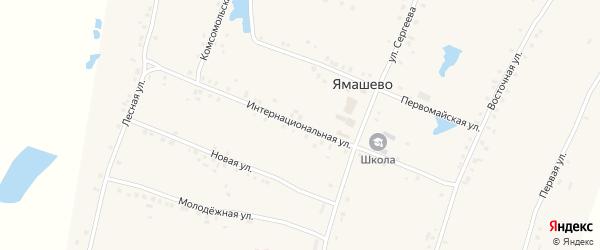 Интернациональная улица на карте села Ямашево с номерами домов